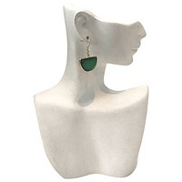 Lucite Crescent Earrings