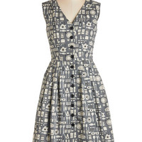 Emily and Fin Vintage Inspired Long Sleeveless A-line Give It Your Best Guest Dress in Kitchen