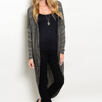 Sand Dunes Curved Hem Duster Sweater