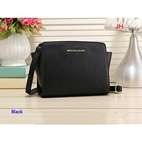 MK hot seller of women's solid color shoulder bag and fashionable shopping bag Black