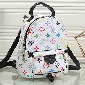 Perfect LV Louis Vuitton Leather Travel Bag Backpack