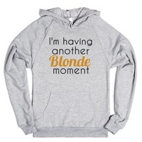 blonde moment-Unisex Heather Grey Hoodie
