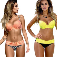 Bikini Set Summer Low Waist Swimwear Women Sexy Bench Swimsuit Bathing Suit Push Up Biquini Brazilian Maillot De Bain BK313