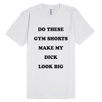 Gym Shorts-Unisex White T-Shirt