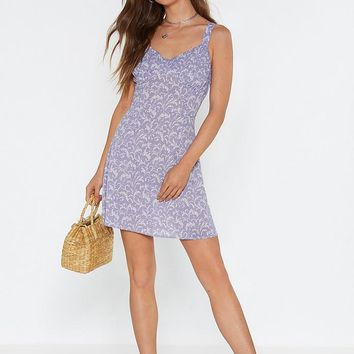 Don't Leaf Me This Way Mini Dress