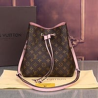 Louis Vuitton LV Women Fashion Leather Bucket Bag Handbag Crossbody Shoulder Bag