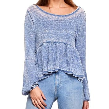Frida Burnout Bell Sleeve Top