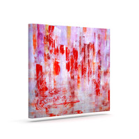 """Malia Shields """"Painted Cityscape"""" Pink Red Canvas Art"""
