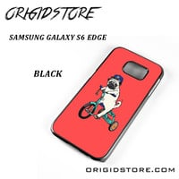 Pug Bicycle For Samsung Galaxy S6 Edge Case Please Make Sure Your Device With Message Case UY