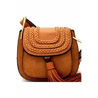 Bohemian Mini Crossbody with Tassel Accent, Two Colors