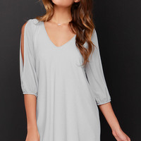 Shifting Dears Grey Long Sleeve Dress