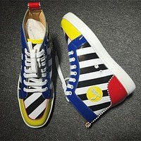 Christian Louboutin CL Leather Style #2156 Sneakers Fashion Shoes Online