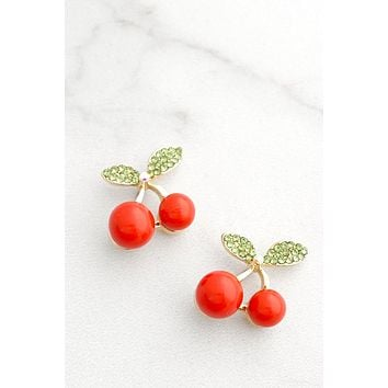 Cherry Stud Earrings
