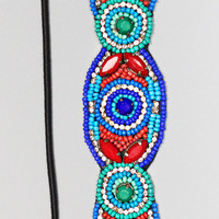 Jeweled Gem Headband - ROYAL