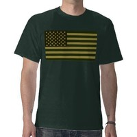 Green American Flag Shirt from Zazzle.com