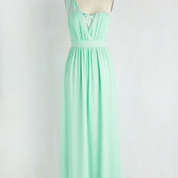 Pastel Long One Shoulder Maxi Wink and a Promenade Dress by ModCloth