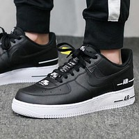 "Samplefine2 Air Force 1 ""Double Air"" cushioning low-top flat sneakers shoes"