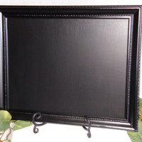 Black framed Chalkboard, decorative chalkboard, black board, slate, framed chalk board, kitchen menu board, chalkboard frame, wedding decor,