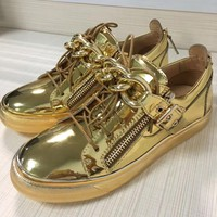 Giuseppe Zanotti Men's Leather Fashion Low Top Sneakers Shoes