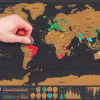 Scratch off the World Map