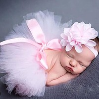 Baby born Photography Props Baby Tutu Skirt Headband Set Photos Props Born Photography Accessories