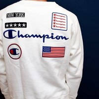 Champion New fashion embroidery letter couple long sleeve top sweater