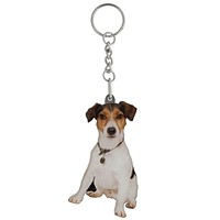 Jack Russell Mirrored Acrylic Keychain