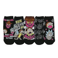 Rick and Morty No Show Socks - 5 Pair - Spencer's
