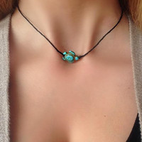 Turtle Choker Necklace