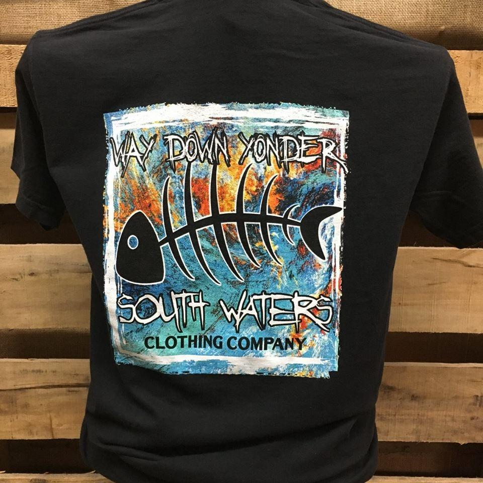 Image of South Waters Comfort Colors Way Down Yonder Bone Fish Unisex Bright T Shirt