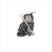 Death Kitty Lapel Pin