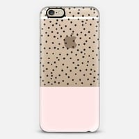 Pastel pink black watercolor polka dots pattern iPhone 6 case by Pink Water   Casetify