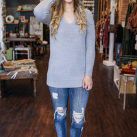 Hearts Desire Sweater Tunic - Dove Grey