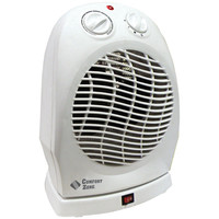 Comfort Zone Classic Oscillating Heater And Fan (white)