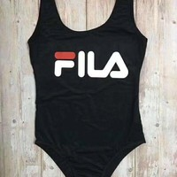 FILA Women printed One Piece Swimsuit Bikini Set
