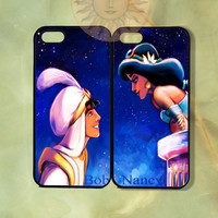 Aladdin and Jasmine Couple Case-iPhone 5, iphone 4s, iphone 4 case, ipod 5, Samsung GS3-Silicone Rubber or Hard Plastic Case, Phone cover