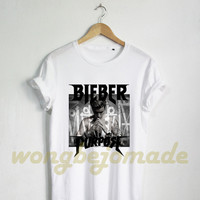Justin Bieber Shirt Purpose Tour Black and White Color Tshirt Unisex Size