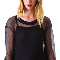 Lucy Paris Full Court Mesh Top