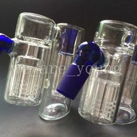 Showerhead Ash Catcher Double Chamber with 7 Arm tree perc Ashcatcher for Glass Bongs Glass smoking accessories