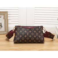 LV Fashion Ladies Single Shoulder Bag Wine Red