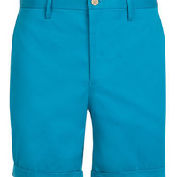Teal Cotton Suit Shorts - View All  - New In