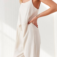 Silence + Noise Square Neck Linen Jumpsuit | Urban Outfitters