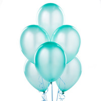 "Silk Seafoam Blue 11"" Latex Balloons"