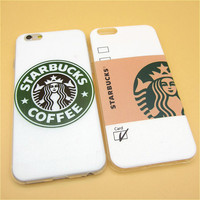 Fashion Starbuck Coffee TPU Slim Back Cover Skin for Apple iPhone 6 6s 4.7'' Ultra Thin Soft Phone Case Shell