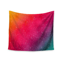 "Fotios Pavlopoulos ""Colorful Constellation"" Pink Glam Wall Tapestry"