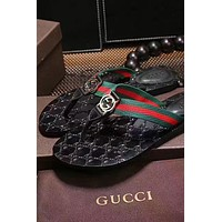 GUCCI Tide brand high quality men and women outdoor beach slippers shoes
