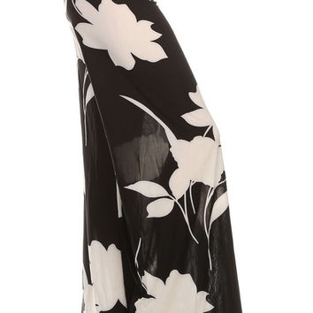 Flowing Leaves Palazzo Pants
