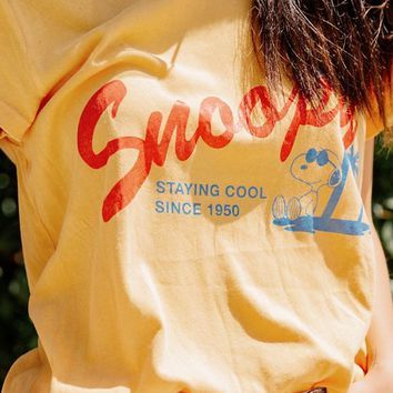 Junk Food Snoopy Staying Cool Tee   Urban Outfitters