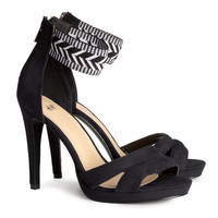H&M - Sandalettes - Black - Ladies