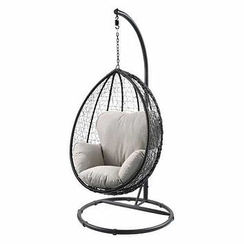 Dramatic Swing Chair With Stand